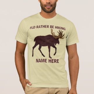 Rustic Moose Faux Leather-Look Rather Be Hiking T-Shirt