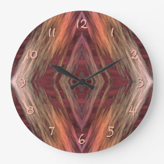 Rustic Mosaic American Native Indian Cabin Pattern Wall Clocks