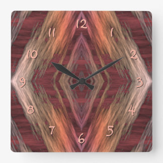 Rustic Mosaic American Native Indian Cabin Pattern Wallclocks