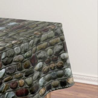 Rustic Mosaic Rocks Pattern Tablecloth