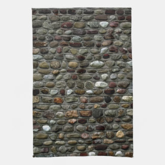 Rustic Mosaic Rocks Pattern Tea Towel