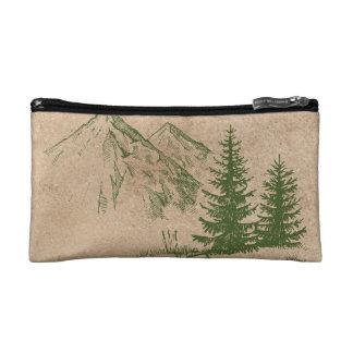 Rustic Mountain Cosmetic Bag
