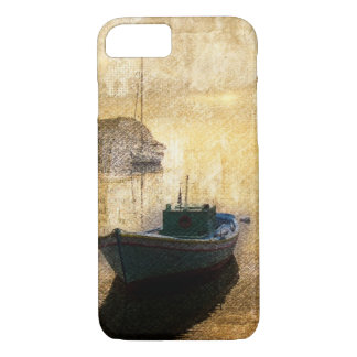 Rustic mountain lake canoe boat sailboat iPhone 7 case