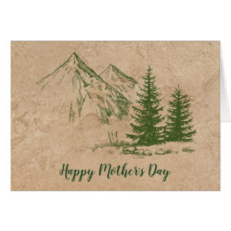 Rustic Mountain Mother's Day Greeting Card