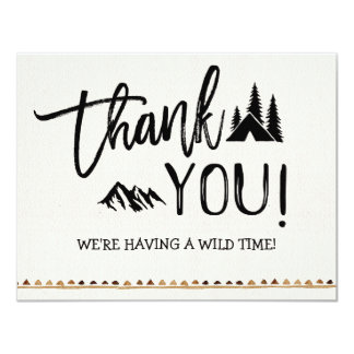 Rustic Mountain Wild One Thank You Card