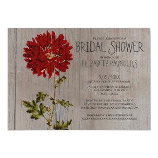 Rustic Mums Bridal Shower Invitations
