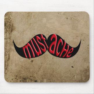 Rustic Mustache Moustache Stache Mouse Pad