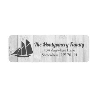 Rustic Nautical Sailboat & White Wood Family Name