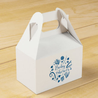 Rustic Nautical Sea Life Baby Shower Favor Box