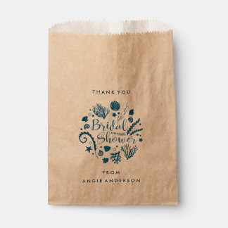 Rustic Nautical Sea Life Bridal Shower Favor Bag