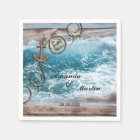 Rustic Nautical Wedding Paper Napkins Disposable Serviette