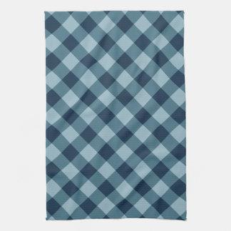 Rustic Navy and Blue Buffalo Plaid Tea Towel