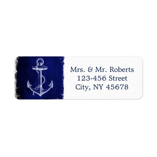 rustic Navy Blue anchor nautical wedding