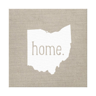Rustic Ohio Home State Wrapped Canvas