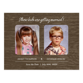 Rustic Old Photo Save The Date Postcard