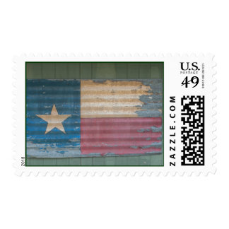 Rustic Old Texas Lone Star Flag cusomizable Postage Stamp