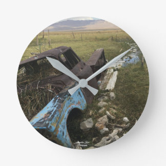 Rustic Old Truck Wall Clock