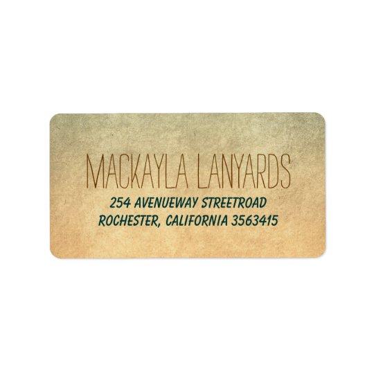 Rustic Old Wedding Label