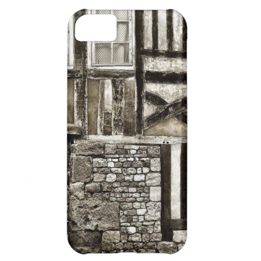 Rustic Old Wood and Stone Building Cover For iPhone 5C