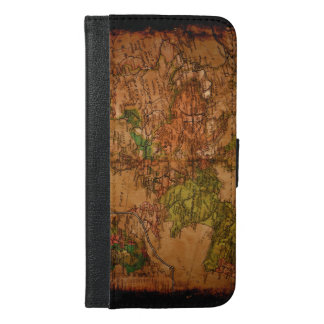 Rustic Old World Map of Europe 1740 iPhone 6/6s Plus Wallet Case