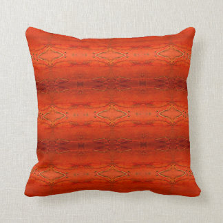 Rustic Orange Aztec Pattern Pillow