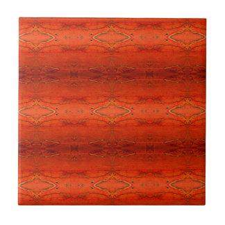 Rustic Orange Aztec Pattern Tile