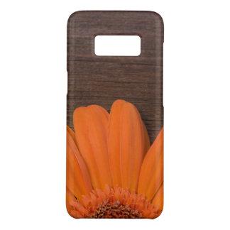 Rustic Orange Daisy and Barn Wood Case-Mate Samsung Galaxy S8 Case