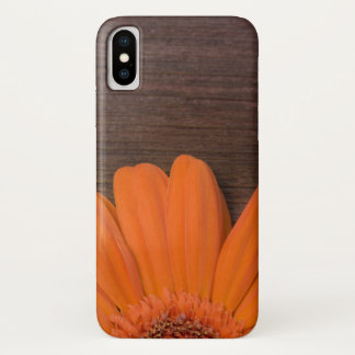Rustic Orange Daisy and Barn Wood iPhone X Case