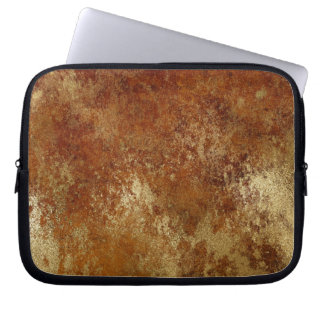 Rustic Orange Distressed Gold Texture Laptop Laptop Sleeve
