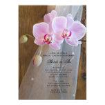 Rustic Orchid Elegance Country Bridal Shower 13 Cm X 18 Cm Invitation Card