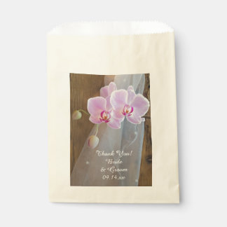 Rustic Orchid Elegance Country Wedding Thank You Favour Bags
