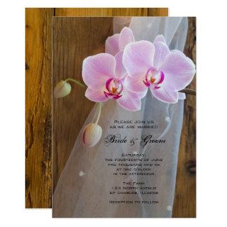 Rustic Orchid Elegance Ranch Wedding Invitation