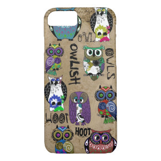 Rustic Owl Design iPhone 7 Case