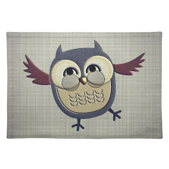 Rustic Owl with Glasses Placemats