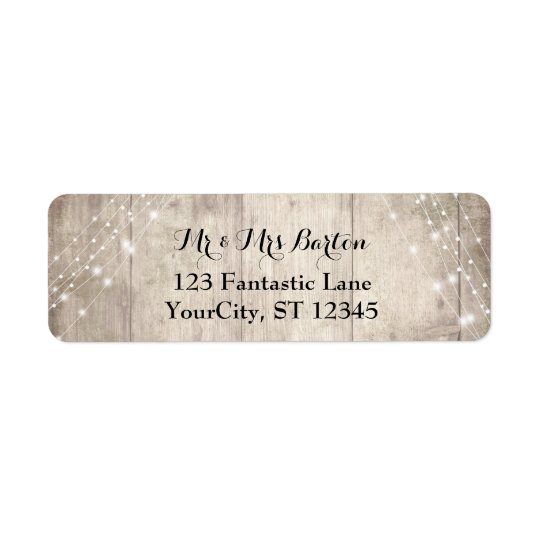 Rustic Pale Brown Wood, White Lights Wedding 2