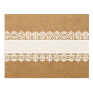 Rustic Paper and Delicate Lace - Shabby Chic Style Postcard
