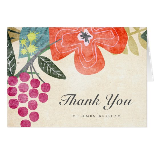 Rustic Paradise Wedding Thank You Card