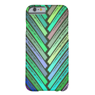 Rustic Pastel Leaf Strokes Barely There iPhone 6 Case