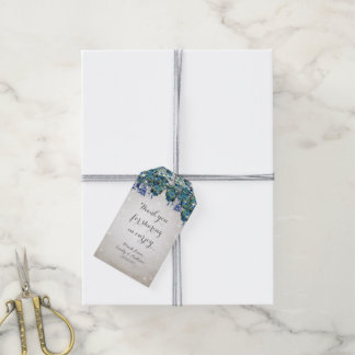 Rustic Peacock Navy Rustic Luxe Gift Tags