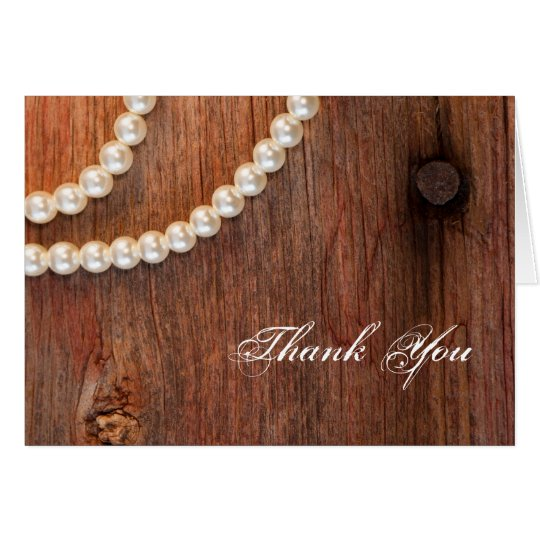 Rustic Pearls Country Bridesmaid Thank You Card