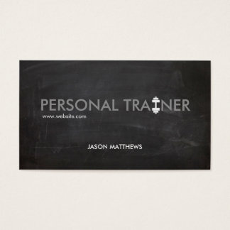 Rustic Personal Trainer Dumbbell Logo Fitness