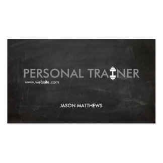 Rustic Personal Trainer Dumbbell Logo Fitness Pack Of Standard Business Cards