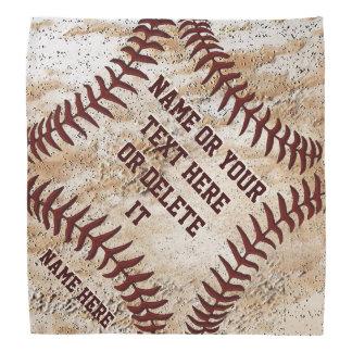 Rustic Personalized Baseball Bandana Handkerchief