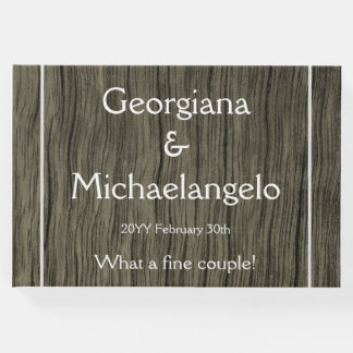Rustic & Personalized Wedding Guestbook