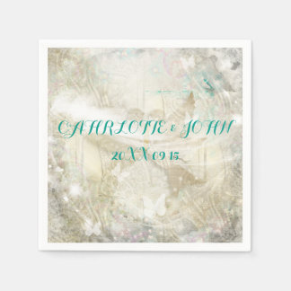 Rustic Personalized Wedding Napkins Paper Serviettes