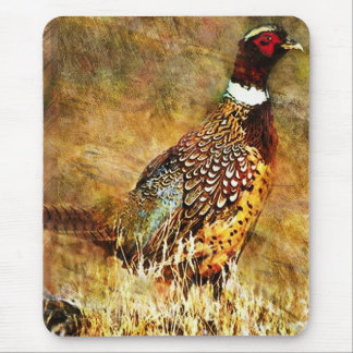 Rustic Pheasant Painting Mouse Pad