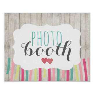 Rustic Photo Booth Wedding Poster