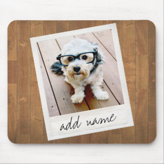 Rustic Photo Frame with Square Instagram and Wood Mouse Pad