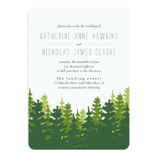 Rustic Pine Forest Wedding Invitation