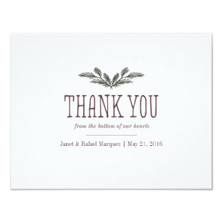 Rustic Pine Needle Thank You Card 11 Cm X 14 Cm Invitation Card
